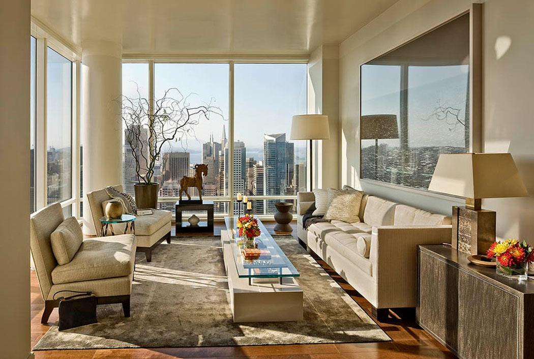 bel appartement de luxe avec vue imprenable sur le paysage. Black Bedroom Furniture Sets. Home Design Ideas