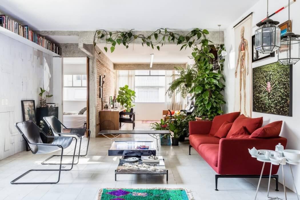 appartement rénové design intérieur éclectique