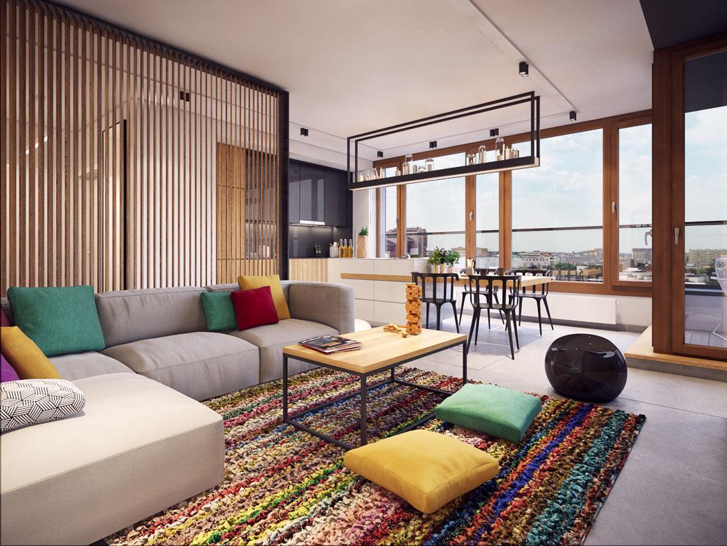 Exceptionnel Appartement Moderne Au Design Minimaliste Et Chaleureux à Varsovie