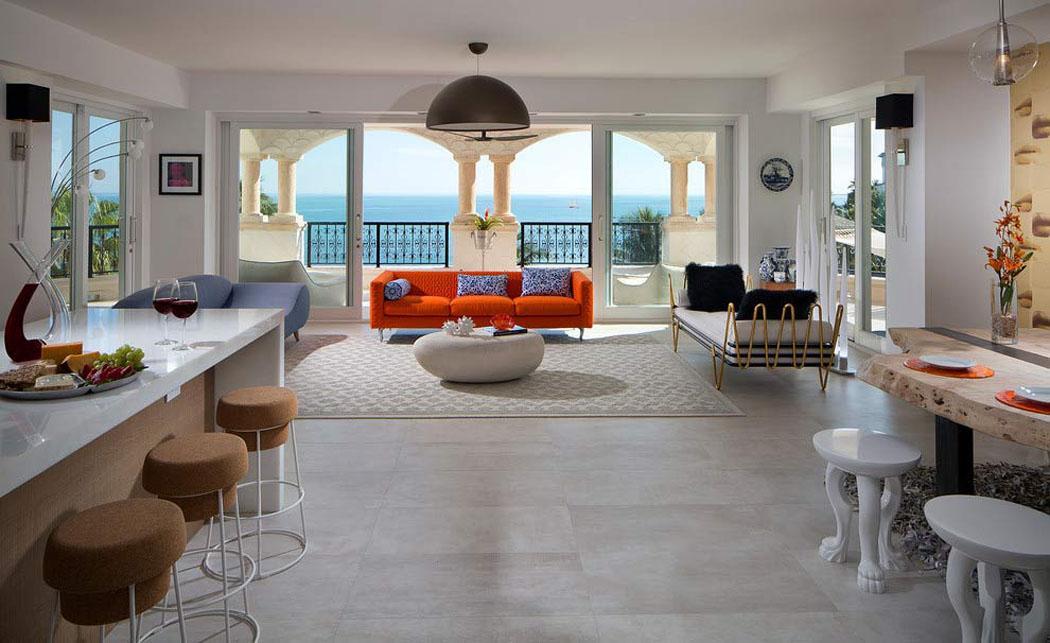Interieur appartement design grandes fentres pour un - Appartement design toboggan interieur ...