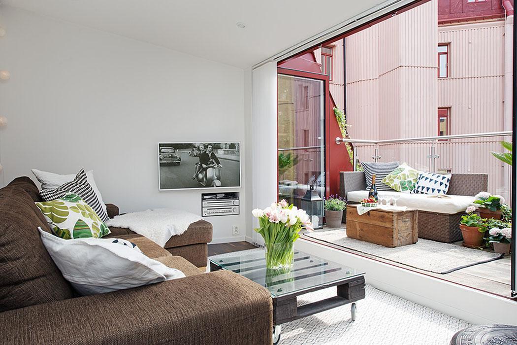 Bel appartement duplex g teborg l agencement atypique for Terrasse appartement design