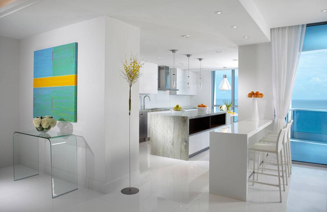 cuisine appartement élégant secondaire vue sur mer