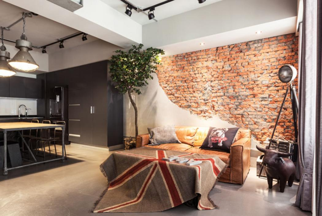 appartement moderne aux influences industrielles