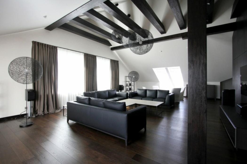 appartement de ville en noire et blanc