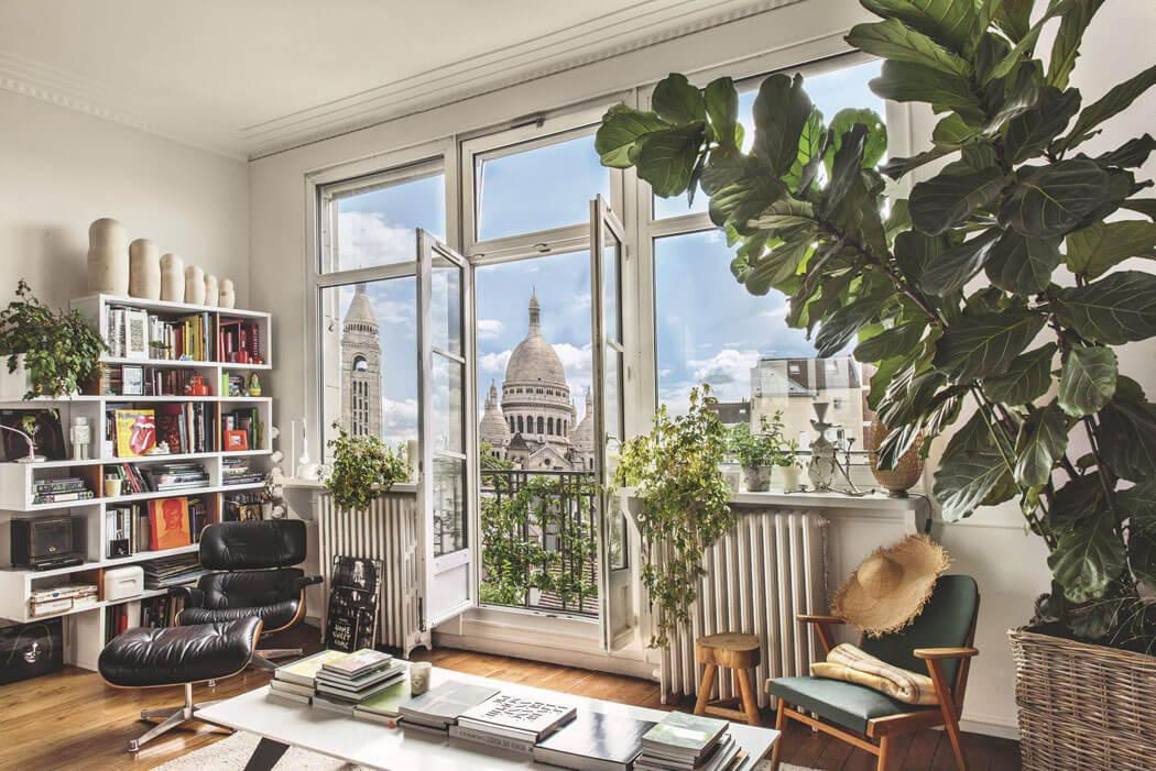 bel appartement parisien avec superbe vue sur la basilique du sacr c ur de montmartre vivons. Black Bedroom Furniture Sets. Home Design Ideas