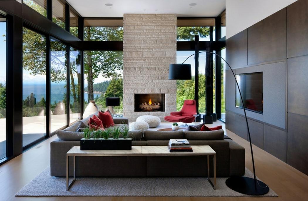 Prestigieuse maison moderne avec vue sur la mer - Belle maison interieur design ...