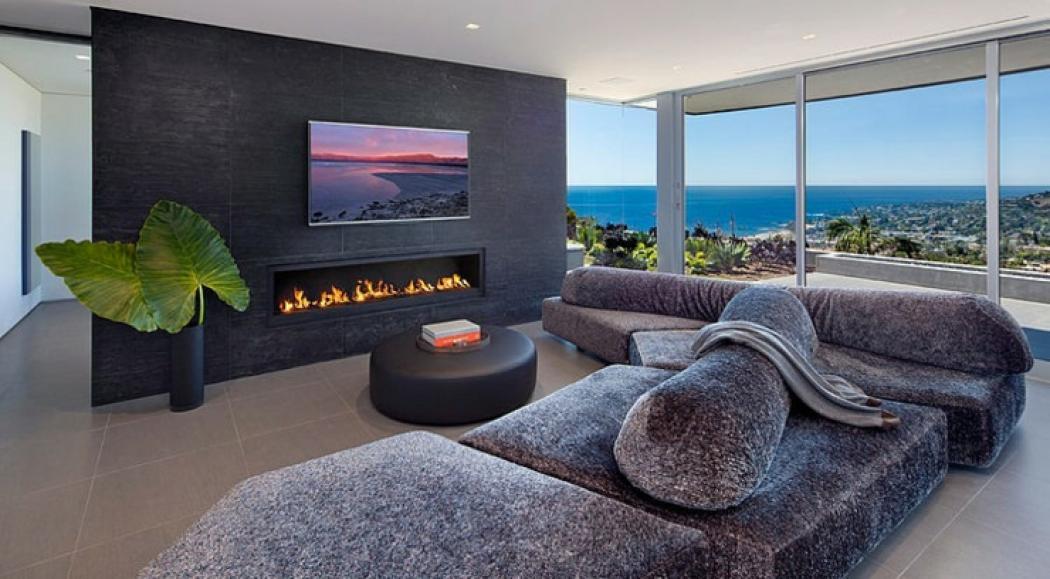 séjour de luxe panoramique donne sur la plage