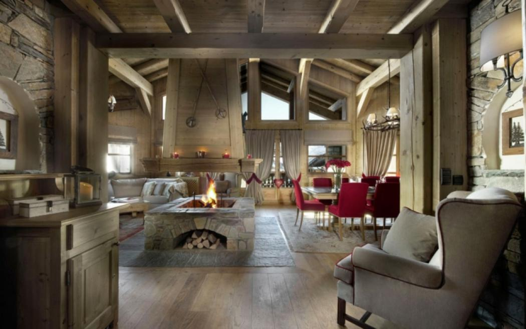 Beau chalet de luxe courchevel vivons maison for Decoration interieur style chalet