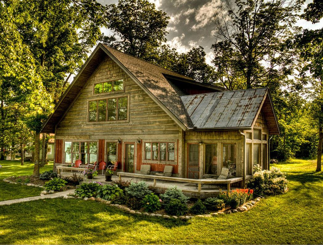 Maison de vacances au charme bucolique au bord d un lac for Country style project homes