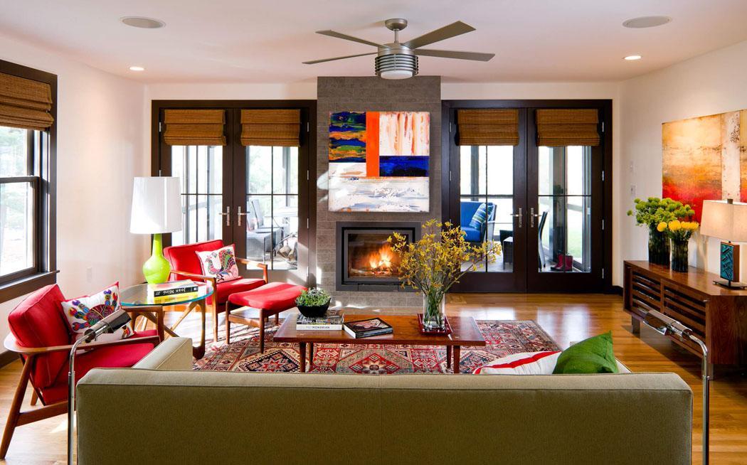 Charmante d co maison pour une jeune famille de quatre en nouvelle angleterre - Deco maison de famille ...