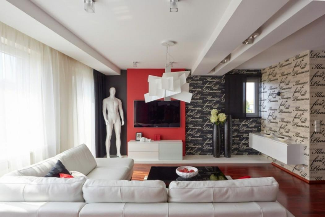 D co maison en rouge pour un appartement moderne vivons for Decoration de sejour design