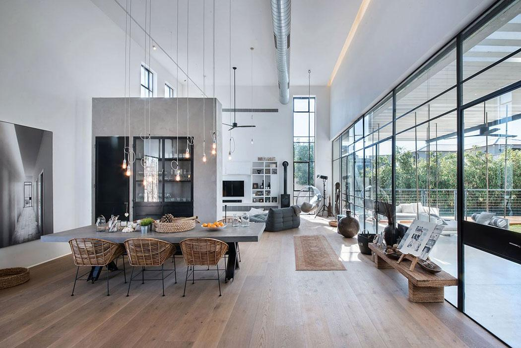 Belle maison contemporaine au design minimaliste \u0026 industriel en Israël