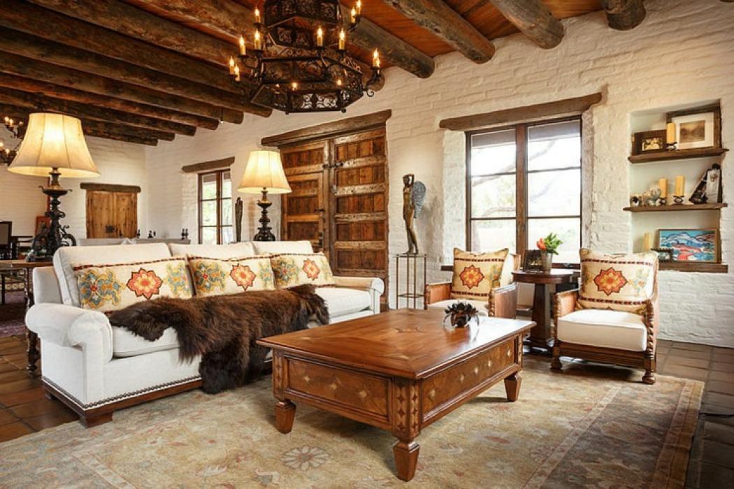 Superbe maison rustique inspir e par le style mexicain for Interieur rustique