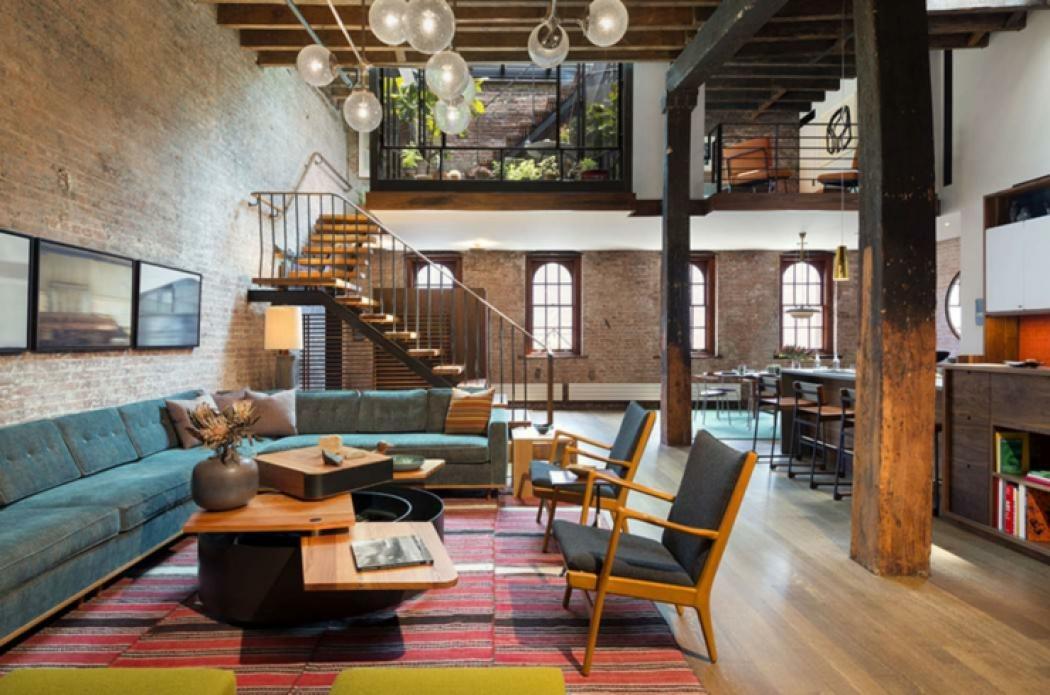 loft moderne au design industriel