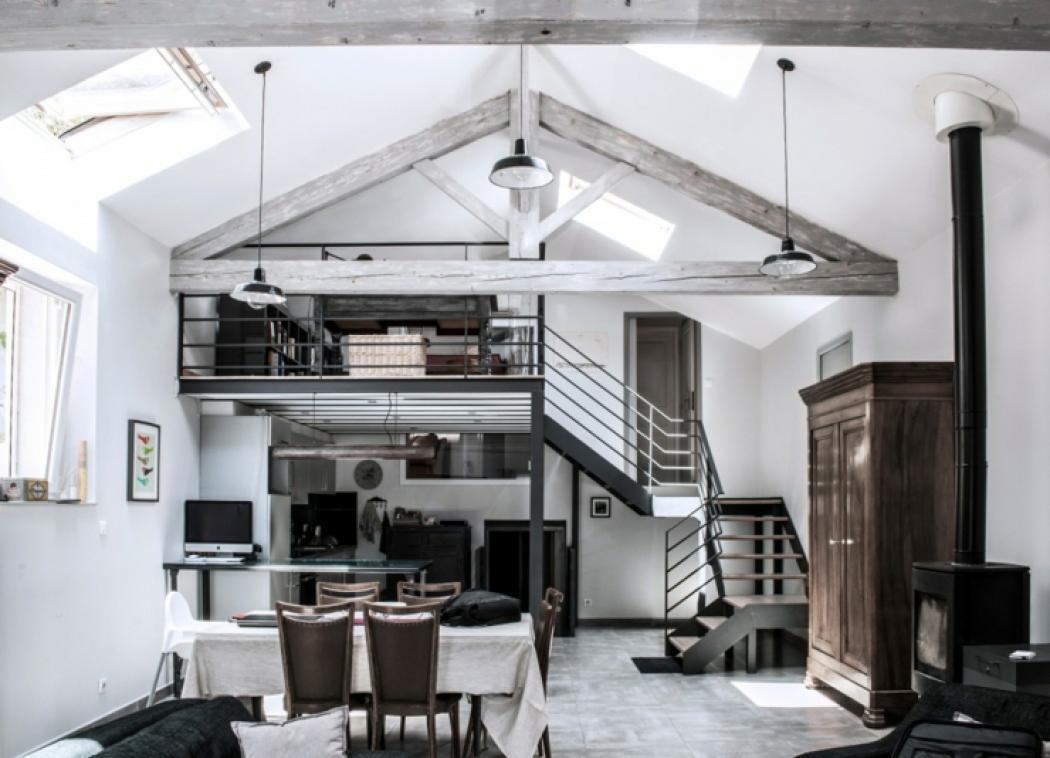 maison loft familiale rustique