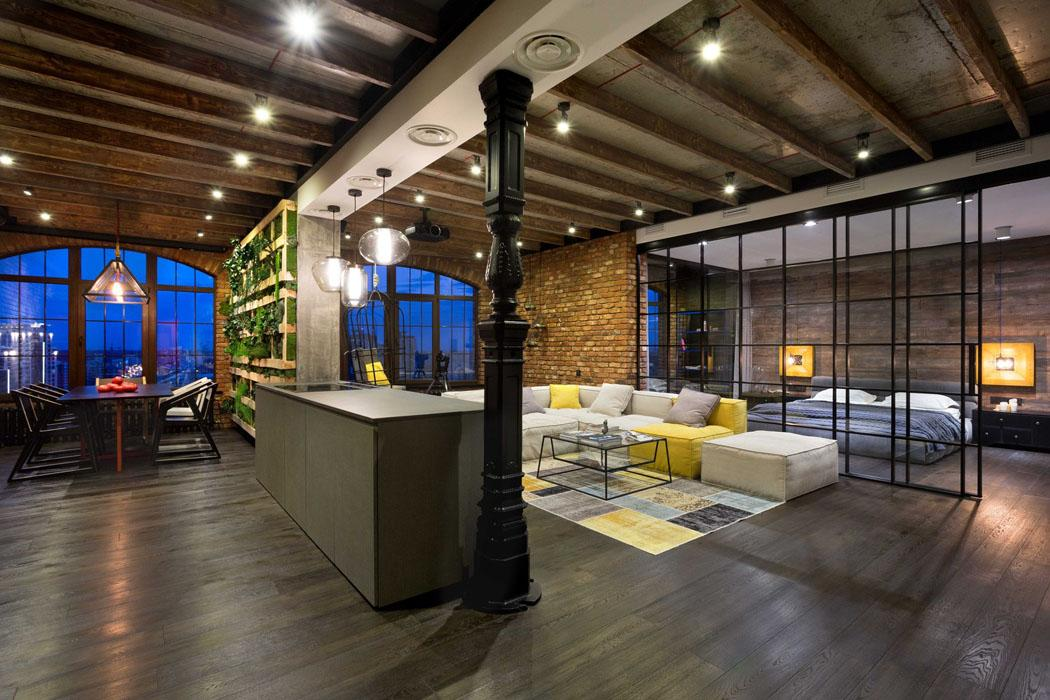 design intérieur loft citadin