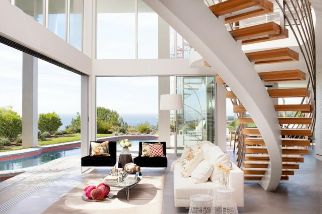 Maison d architecte par dupuis design en californie for Interieur maison moderne photos