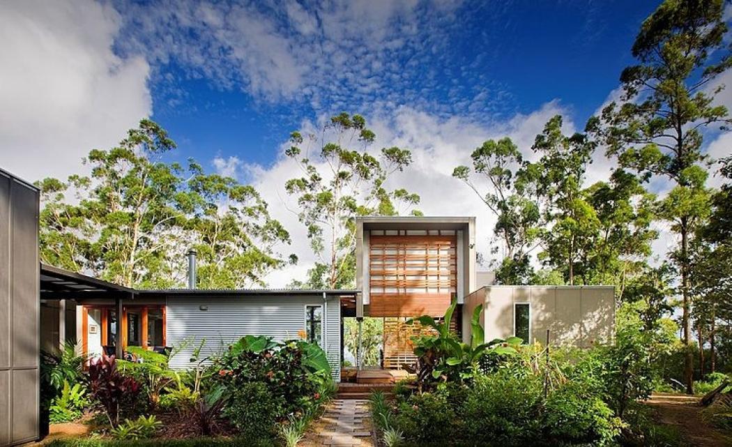 résidence contemporaine verte écologique