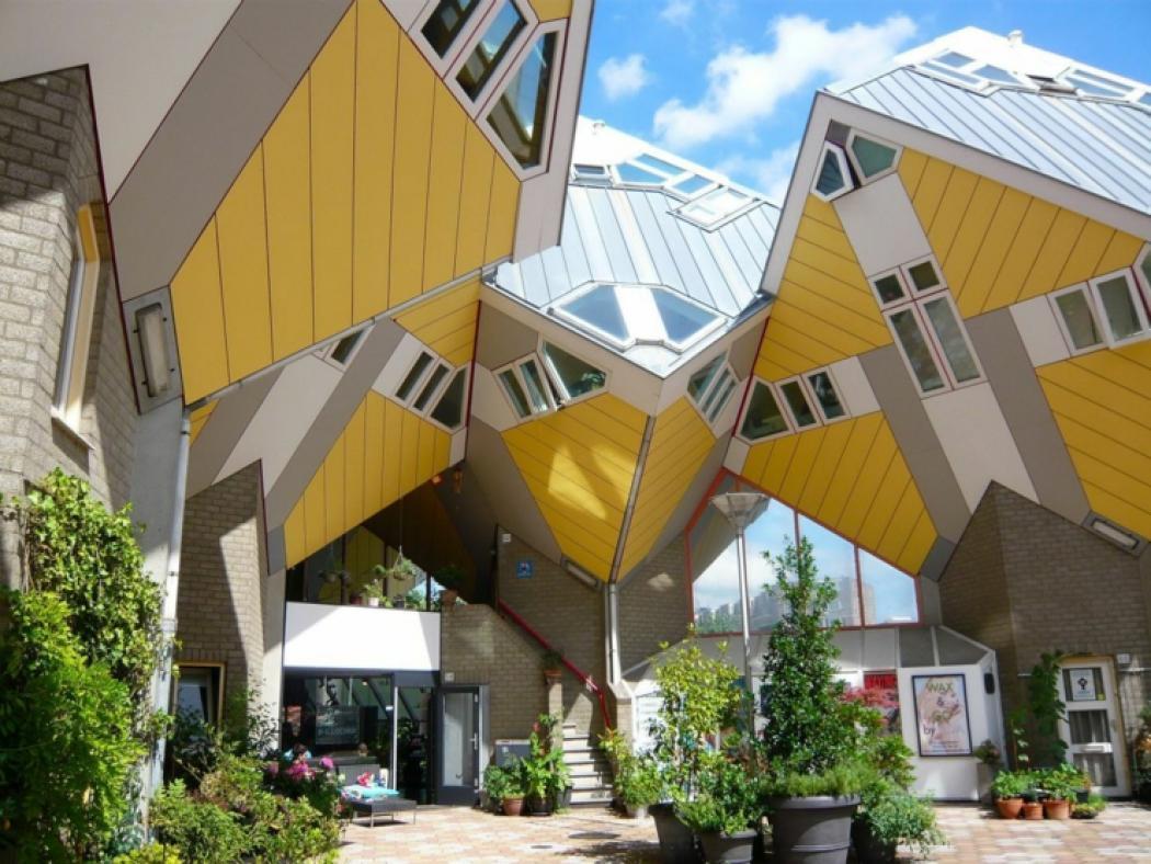 Le complexe original cube houses rotterdam vivons maison for Casa a forma di v