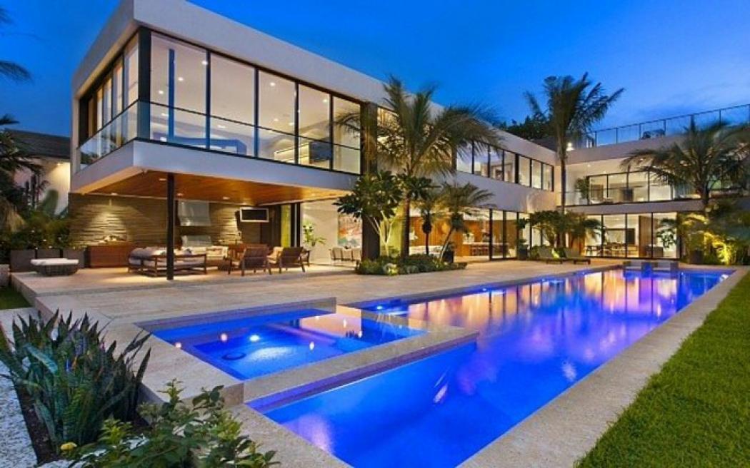 Maison de luxe miami beach floride vivons maison - The star shaped villa ...