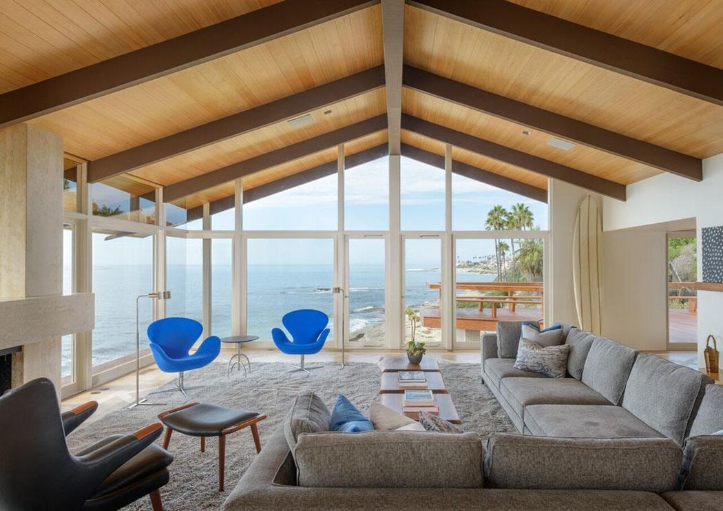 Belle maison de vacances au design int rieur contemporain et splendide vue su - Belle maison interieur ...