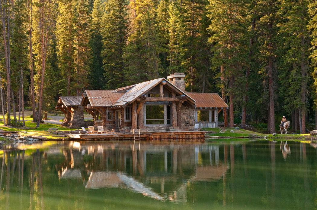 Maison en bois vivons maison for Maison rustique