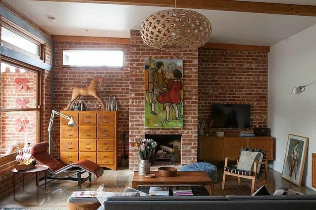 d coration maison brique. Black Bedroom Furniture Sets. Home Design Ideas