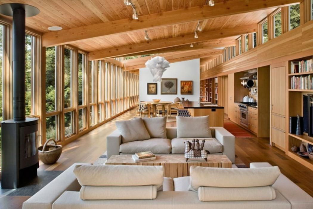 Interieur Maison Bois. Cheap Modele Maison Moderne Exemple Tarif ...