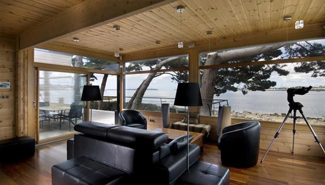 Maison prfabrique bois ossature bois de plain pied style - Prefabrique bois maison ...
