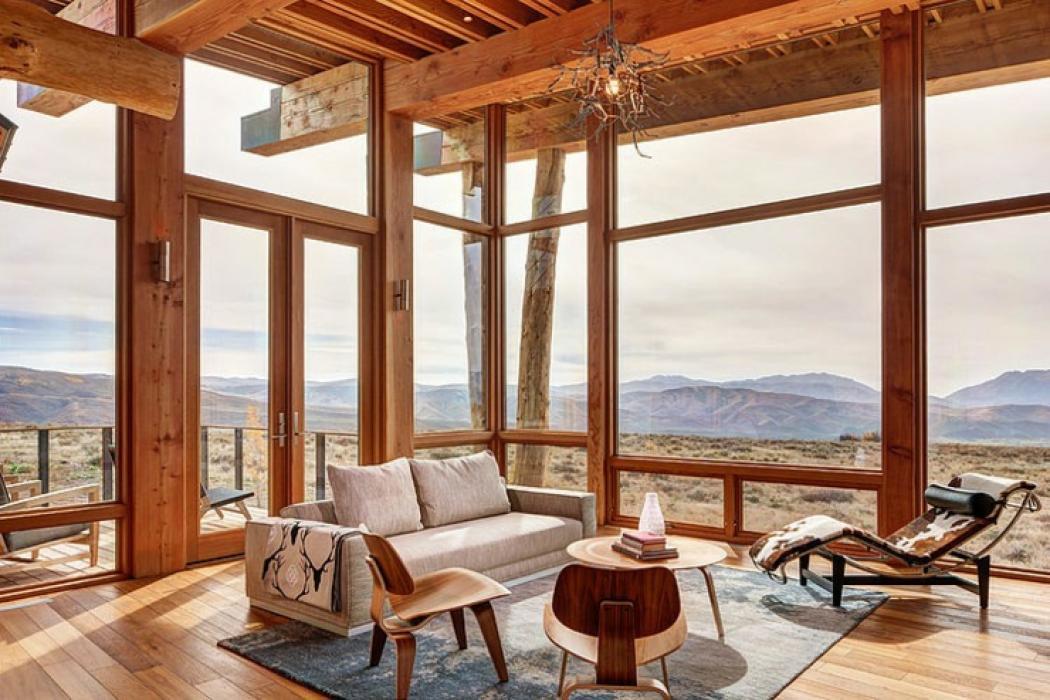 Maison en bois au c ur de la for t hant e vivons maison for Maison bois originale