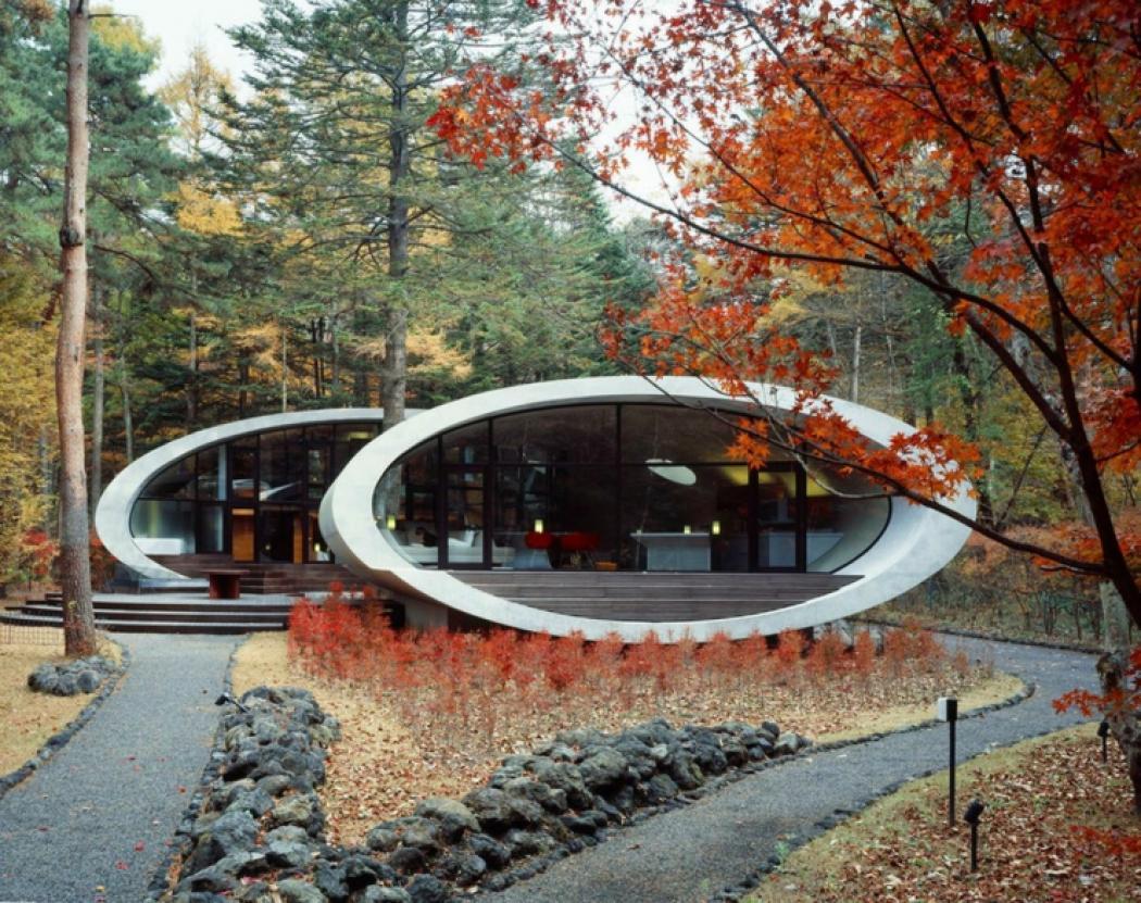 Fabuleux Maison moderne japonaise à l'architecture futuriste à Nagano  TX36