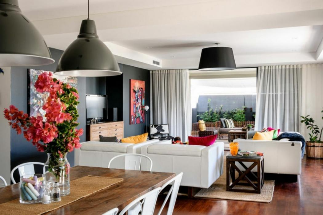 Belle maison moderne la d co clectique en australie - Appartement au design traditionnel moderne colore ...