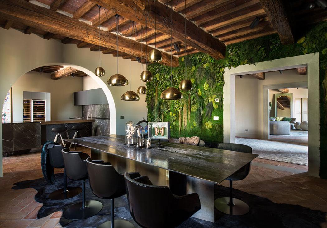 salle à manger rustique et moderne