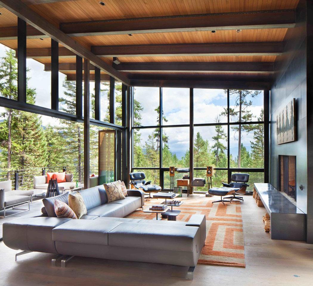 Moderne maison rustique l architecture et agencement for Remate de terrazas