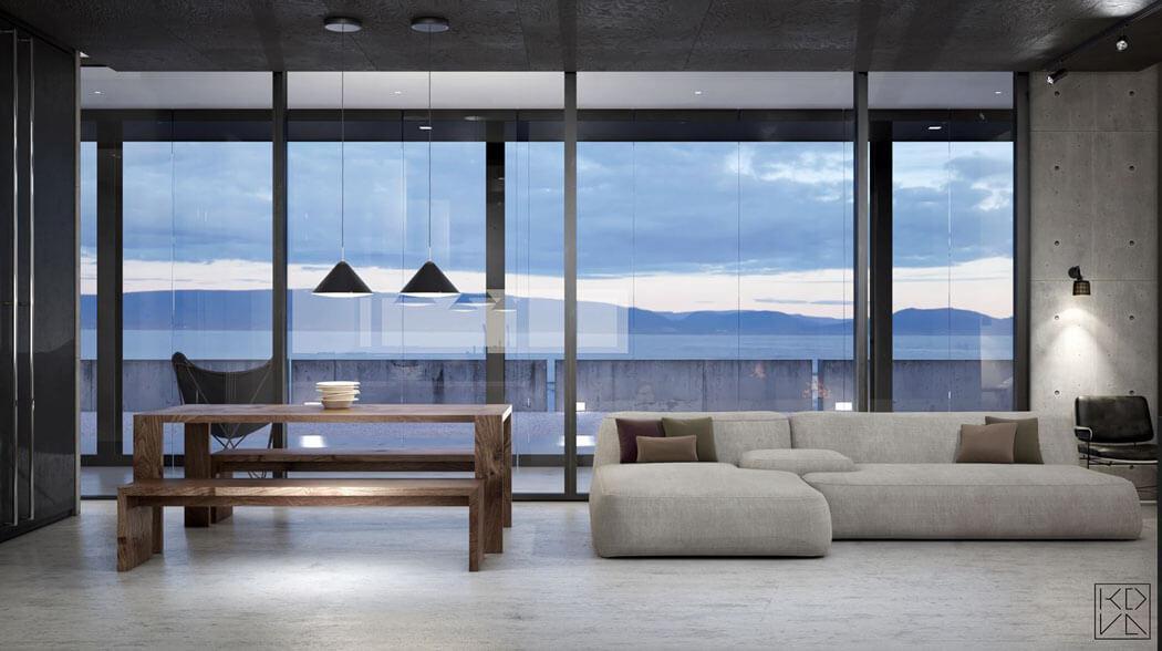 design minimaliste intérieur villa de vacances maison secondaire architecte