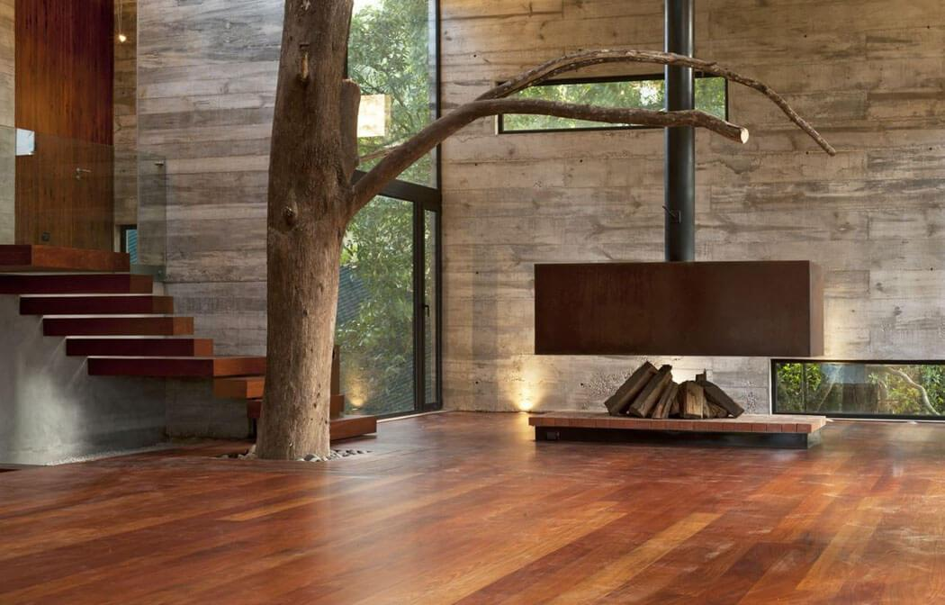 Cr ative et minimaliste maison d architecte situ e sur les for Maison minimaliste