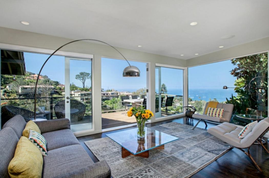 belle maison vue sur océan