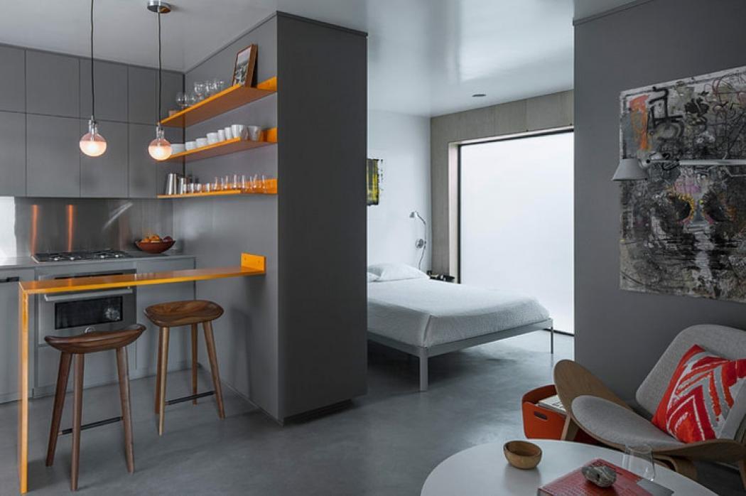 petit studio de ville intérieur design