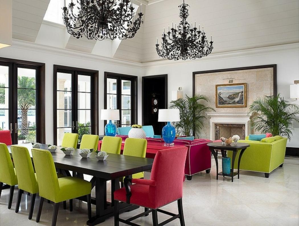 superbe intérieur coloré résidence de haut standing