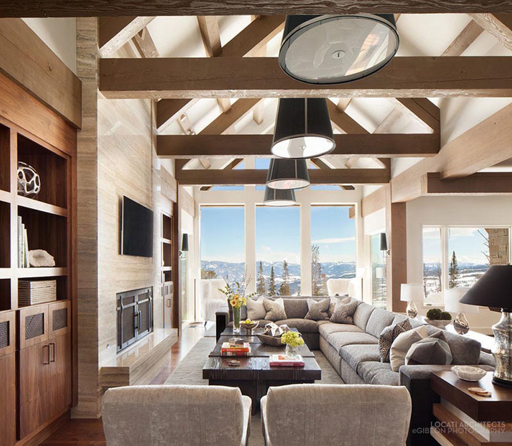 ambiance de luxe rustique montagne ski résidence