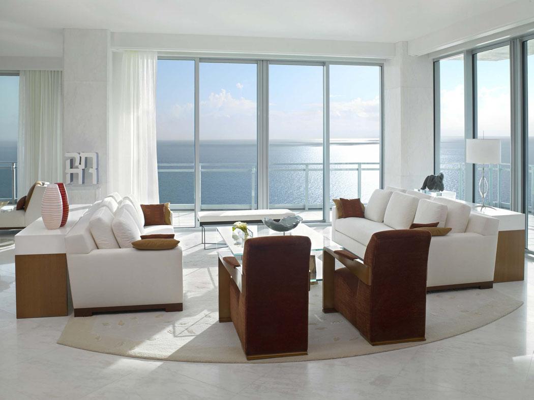 séjour vue imprenable sur mer appartement de luxe