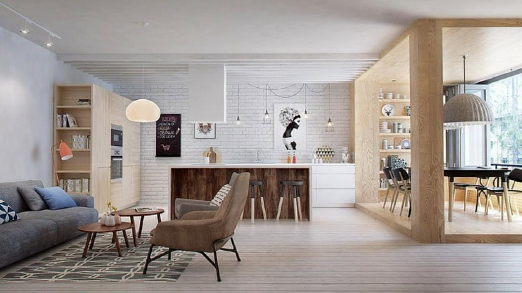 Appartement moderne aux faux airs d un loft vivons maison for Architecture scandinave contemporaine