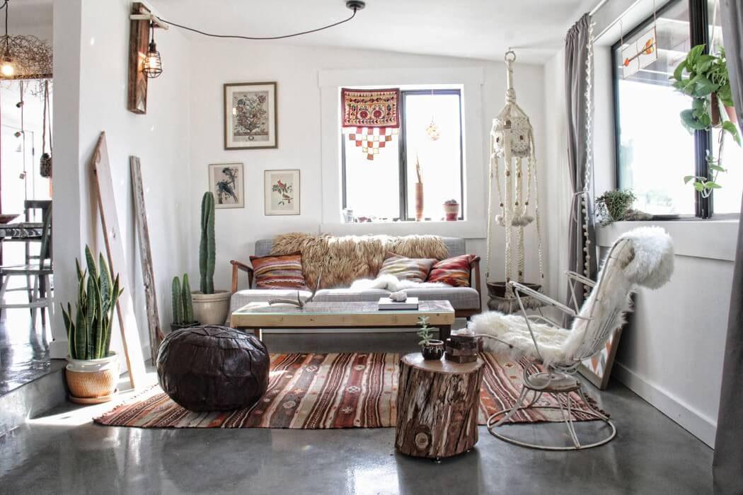 Une maison de charme à l\u0027intérieur éclectique fortement inspiré par  l\u0027esprit hippie