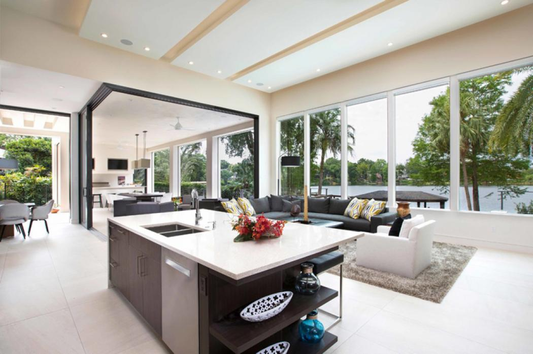 Maison contemporaine en floride au design luxueux et - Photos maison contemporaine ...