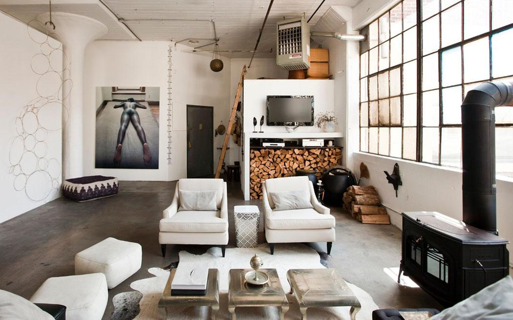 Loft de ville new york au design int rieur inspir par Interieur industriel
