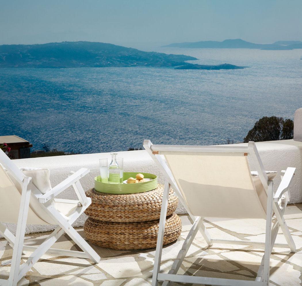 belles vacances exotiques mykonos vue mer