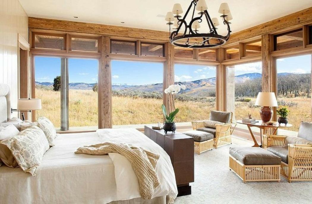 magnifique chambre déco design rustique