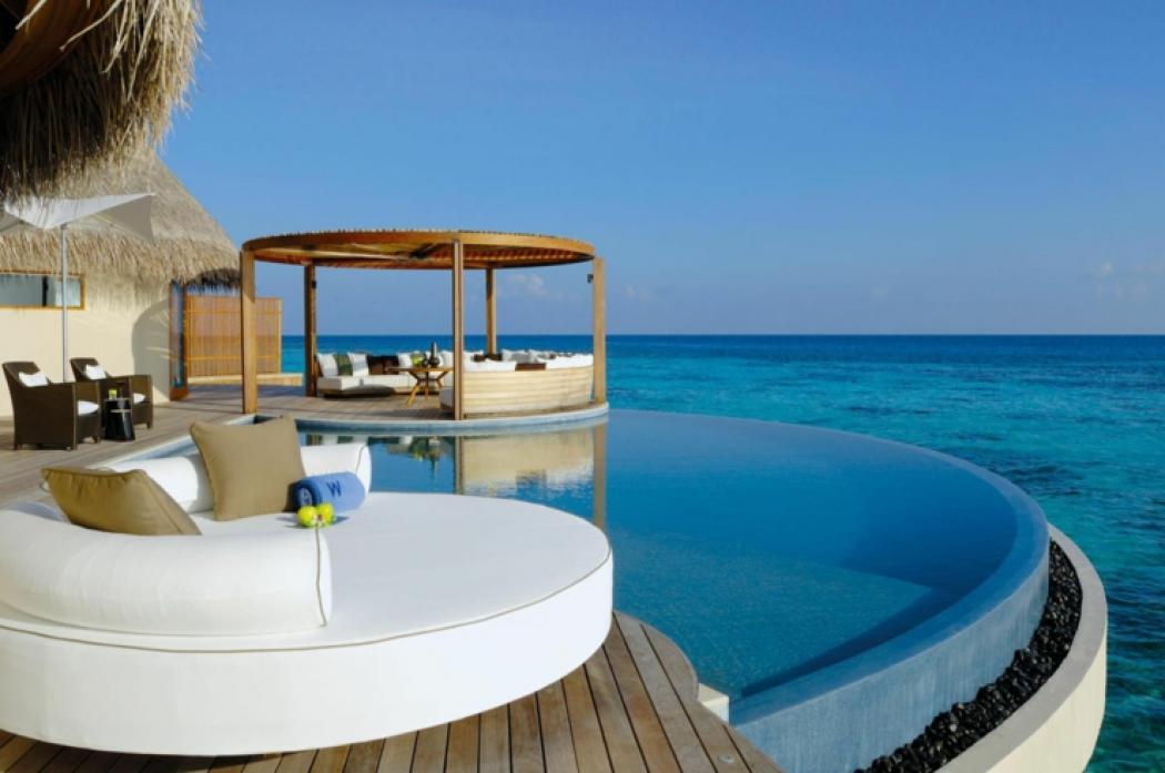 vacances de luxe w retreat spa aux maldives vivons maison. Black Bedroom Furniture Sets. Home Design Ideas