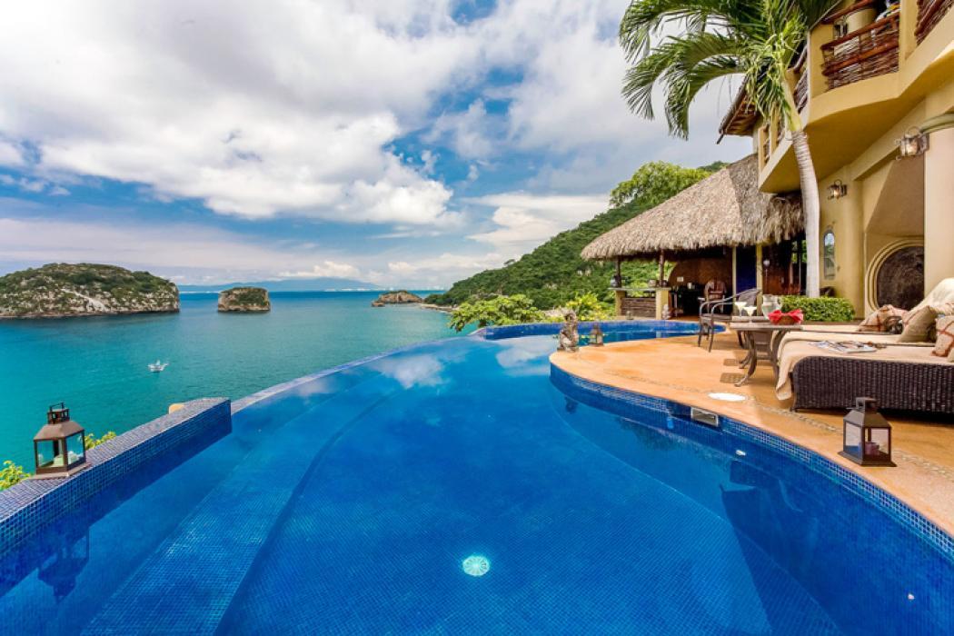 belle location avec vue sur la mer au Mexique