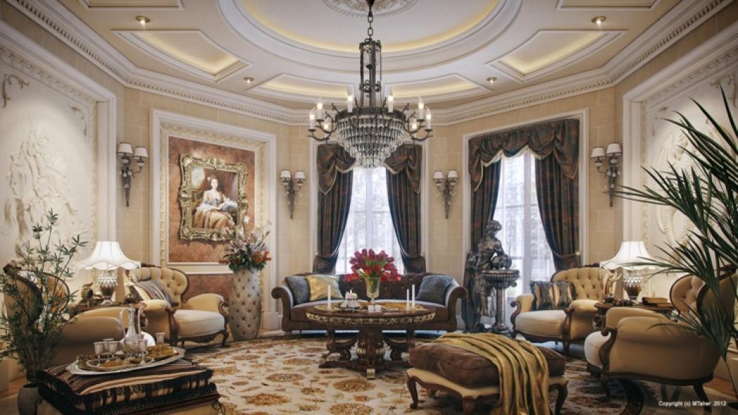 Villa De Luxe Au Design Duintrieur Oriental Au Qatar With Maison Luxe